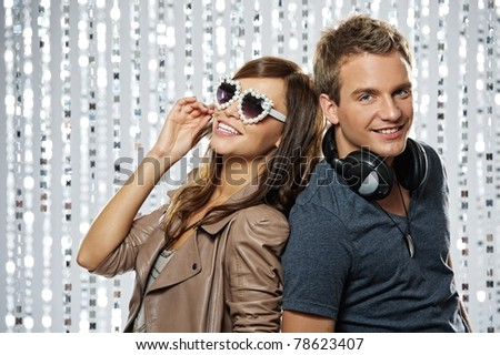 Stylish couple  in the nightclub