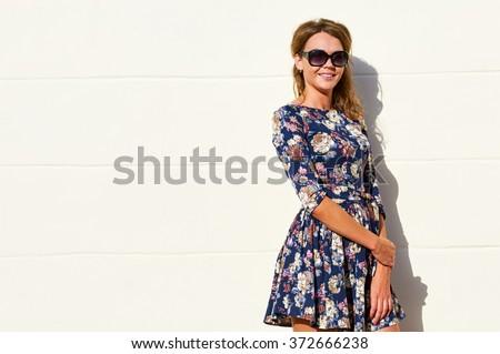 stylish dress woman - stock photo