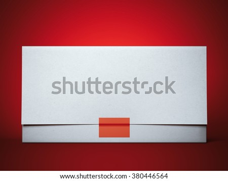 Stylish envelope with red sticker