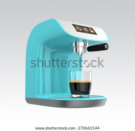 Stylish espresso coffee machines with touch screen. Original design. - stock photo