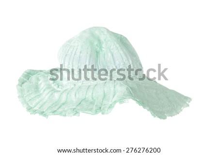 stylish fashion elegant Summer panama hat isolated on white background - stock photo