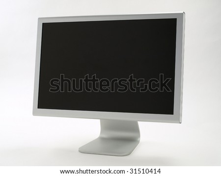 Stylish Flat Panel Monitor with blank screen - stock photo