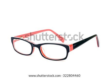 Stylish glasses for women isolated over white background - stock photo