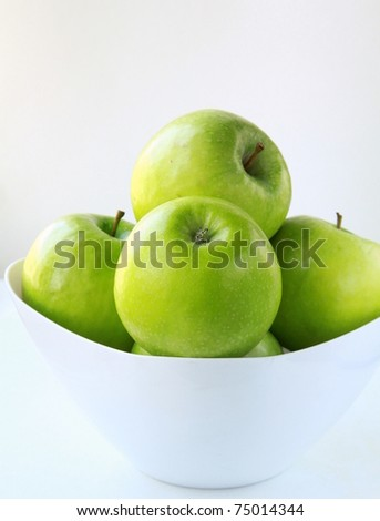 Stylish green Granny Smith apples - stock photo