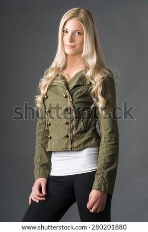 Stylish jacket and leggings - stock photo
