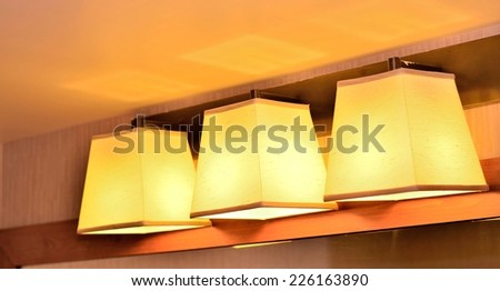 Stylish lamp decor - stock photo