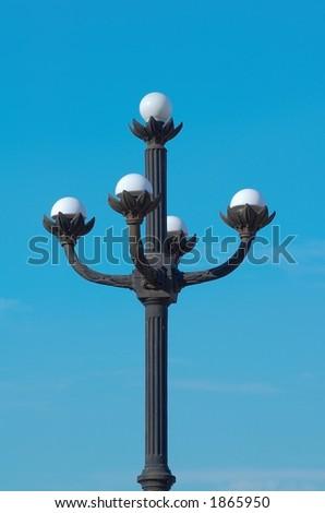 stylish lamppost - stock photo