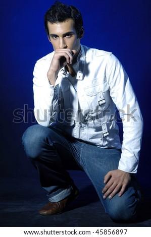Stylish male model - stock photo