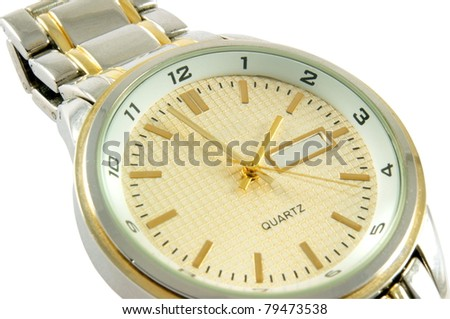 stylish man watch over white background