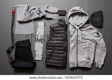 Stylish men's warm clothing and accessories.