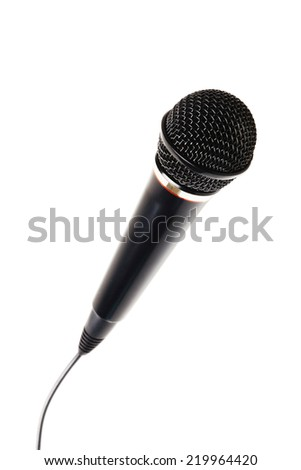 Stylish microphone isolated on white background, path included  - stock photo