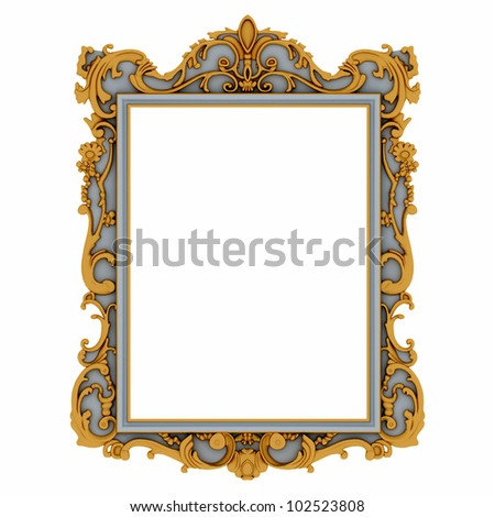 stylish mirror frame - stock photo