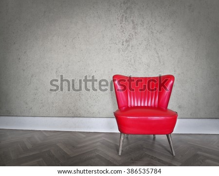 Stylish red chair
