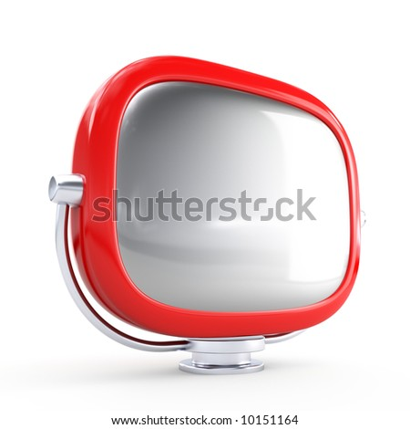 Stylish retro TV. More TV in my gallery - stock photo