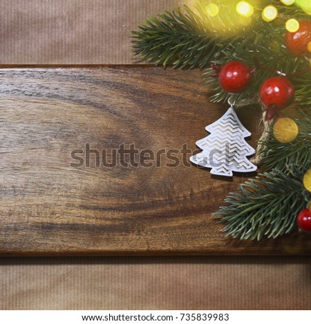 stylish rustic christmas background - Rustic Christmas Background