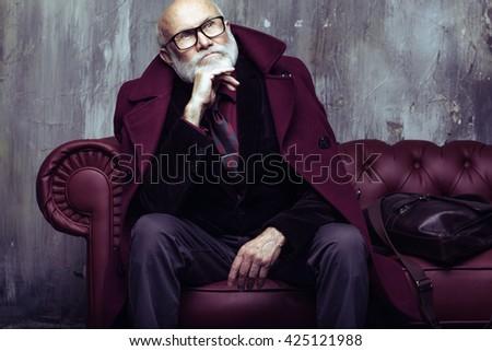 stylish Santa modern concept - stock photo