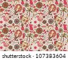Stylish seamless pattern on a Summer relax theme - stock photo