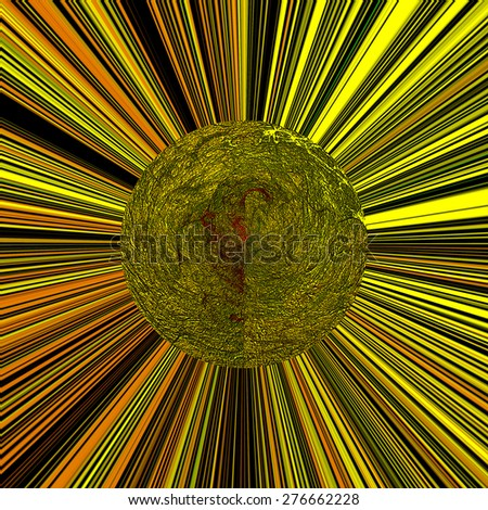 stylish shape swirl logo design , design elements. yellow - stock photo