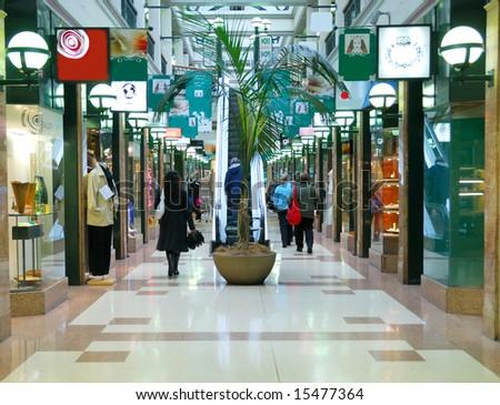stylish shopping street - stock photo