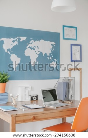 Stylish study space in boy teenager room
