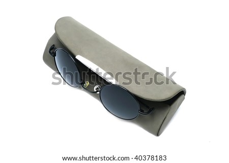 Stylish sunglasses isolated on white