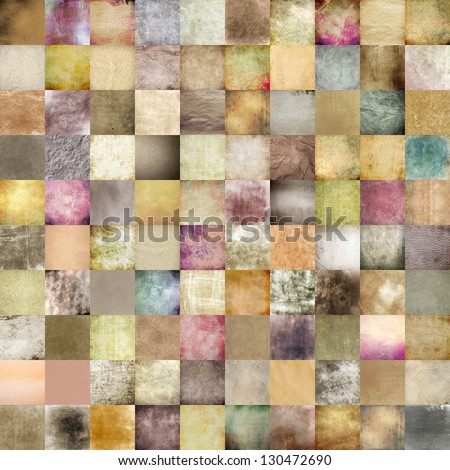 stylish vintage background, weathered old paper texture, rich composition collage work. ideal for high quality cover design works, business concept works or book covers - stock photo