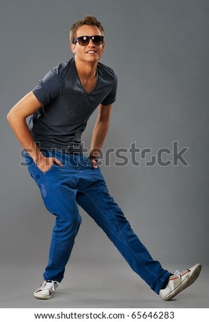 Stylish young dancer - stock photo