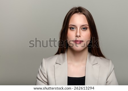 Stylish Young European Woman - Stock Image - stock photo