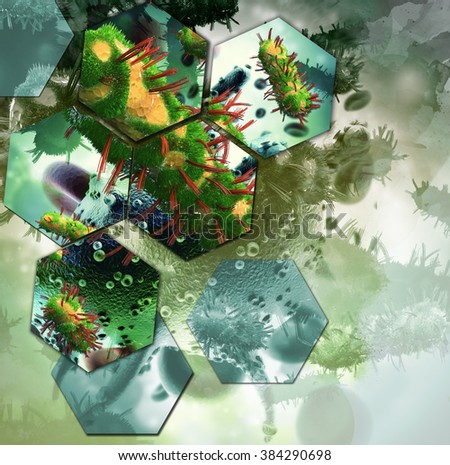 Stylized abstract research background  - stock photo