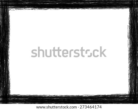 Stylized border black and white Grunge frame