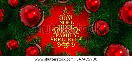 Stylized Christmas tree / Christmas decoration - stock photo