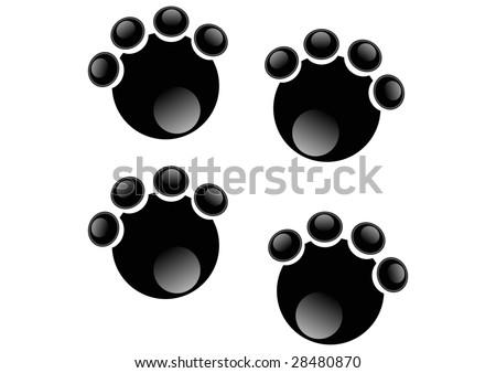stylized elephant footprints - stock photo