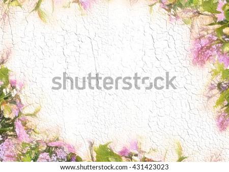 Stylized Frame Floral Pattern Bouquet Background Stock Illustration ...