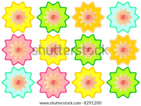 stylized fruit star sweets - stock photo
