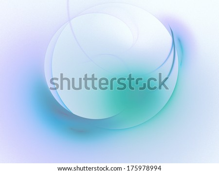 stylized glowing sphere, blue, green, white - stock photo