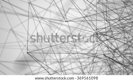 Stylized low poly wire construction concept concepts connection - stock photo