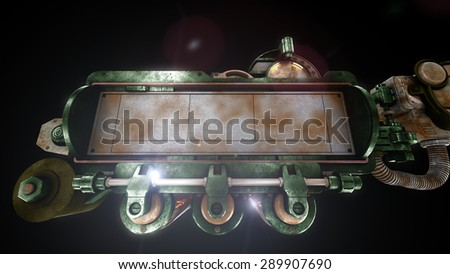 Stylized steam punk rust mechanism  - stock photo