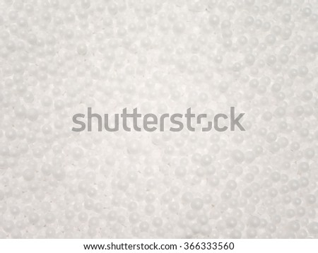Styrofoam beads pattern background
