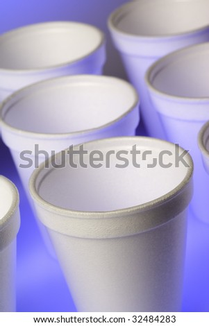 Styrofoam Cups - stock photo