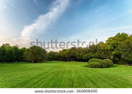 Suan rod fai open public park, Bangkok - stock photo
