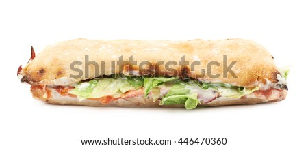 Sub sandwich isolated over the white background