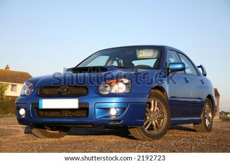 Subaru Impreza - Concept of Fast Performance Cars - stock photo