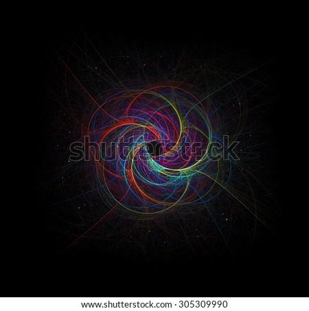 Subatomic World abstract illustration - stock photo