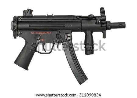 Submachine Gun - isolated - stock photo