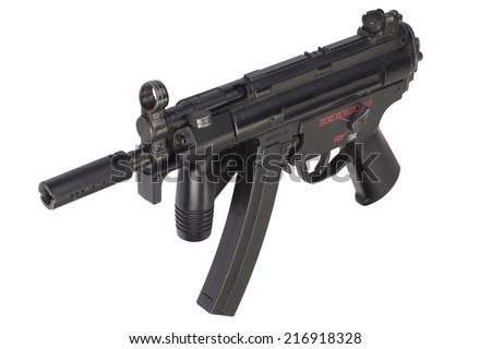 submachine gun MP5 isolated - stock photo