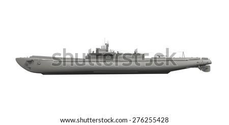 Submarine Isolated - stock photo