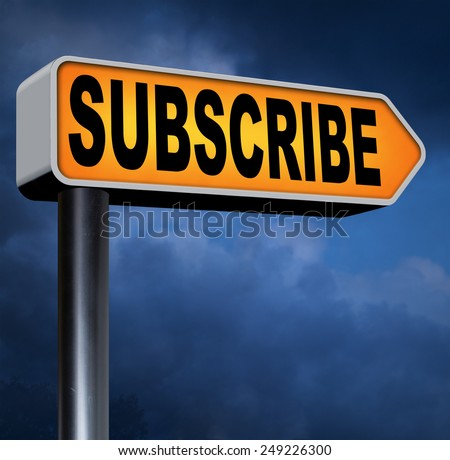 subscribe now and become a online member free membership - stock photo