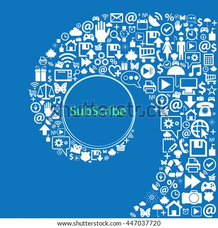 Subscribe sign icon. Membership symbol. Website navigation  . Illustration - stock photo