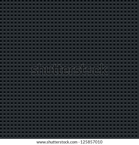 Subtle pattern dark background. Seamless texture perforated metal surface with square holes. Contemporary swatch simple modern style. Template size square format. Image bitmap copy vector illustration - stock photo