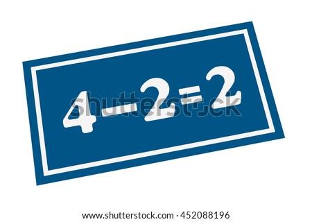 Subtraction Math Equation Kids Answer On Stock Illustration ...